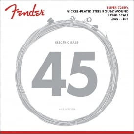 Fender Super Bass 7250M Nickel Plated Steel Bass Guitar Strings 45-105 Long Scale