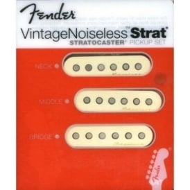 Fender Vintage Noiseless Stratocaster Pickup Set, Aged White
