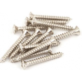 Fender Vintage-Style Bass/Telecaster Bridge & Strap Button Mounting Screws, Nickel-Plated, 12-Pack