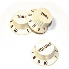 Fender Volume & Tone Parchment Knob Set 005-6254-049