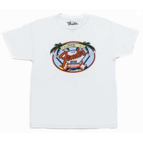 Fender World Famous Visitor Centre T-Shirt White Large