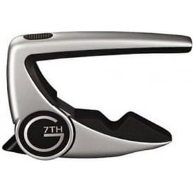 G7th Performance 2 Acoustic Electric 6 String Guitar Quick Change Capo Silver