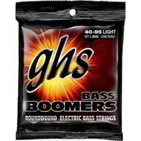 GHS Bass Boomers L3045 Nickel Plated Steel Bass Guitar Strings 40-95 Long Scale