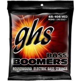 GHS Bass Boomers M3045X Nickel Plated Steel Bass Guitar Strings 45-105 Extra Long Scale