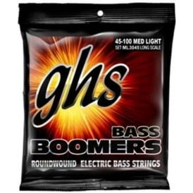 GHS Bass Boomers ML3045 Nickel Plated Steel Bass Guitar Strings 45-100 Long Scale