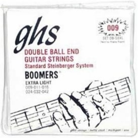 GHS Boomers DB-GBXL Nickel Plated Steel Double Ball End Electric Guitar Strings 9-42 Steinberger Extra Light