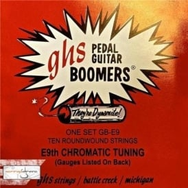 GHS Boomers GB-E9 Roundwound Pedal Strings Strings 12-36 E9th