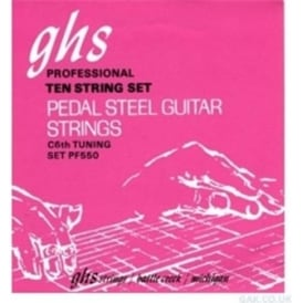 GHS Boomers PF550 C6-Tuning Pedal Steel Strings 15-70 Pure Nickel Rollerwound