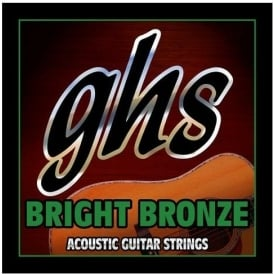 GHS Bright Bronze 12-String BB80 80/20 Copper Zinc Acoustic Guitar Strings 11-48 Light