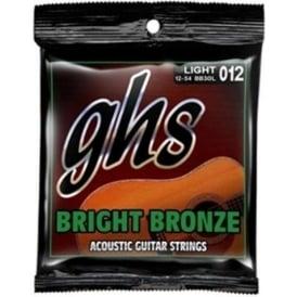 GHS Bright Bronze BB10UL 80/20 Copper Zinc Acoustic Guitar Strings 10-46