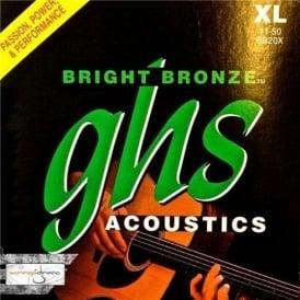 GHS Bright Bronze BB20XL 80/20 Copper Zinc Acoustic Guitar Strings 11-50