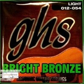 GHS Bright Bronze BB30L 80/20 Copper Zinc Acoustic Guitar Strings 12-54