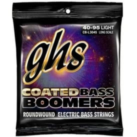 GHS Coated Bass Boomers CB-L3045 Nickel Plated Bass Strings 40-95 Long Scale