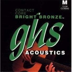 GHS Contact Core Bright Bronze CCBB20 80/20 Copper Zinc Acoustic Guitar Strings 11-50