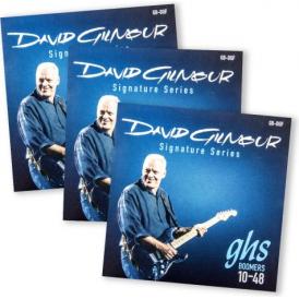 GHS David Gilmour Signature GB-DGF Nickel Plated Steel Electric Guitar Strings 10-48 3-Pack Bundle