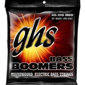 GHS 4-String Bass Boomers M3045 Nickel Plated Steel Bass Guitar Strings 45-105 Long Scale