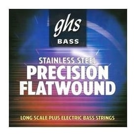 GHS 4-Strings Precision Flats Stainless Steel Flatwound 55-105 Long Scale Bass Guitar Strings 3050