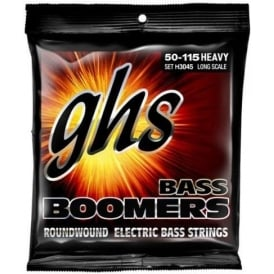 GHS Bass Boomers H3045 Nickel-Plated Steel 50-115 Long Scale Heavy Bass Guitar Strings