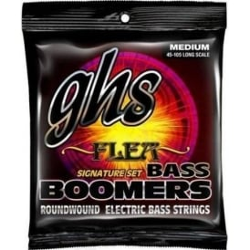 GHS Bass Boomers M3045F Nickel Plated Steel Flea Signature Bass Guitar Strings 45-105 Long Scale