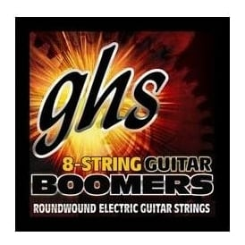 GHS Boomers 8-String Nickel Plated Steel Electric Guitar Strings 09-74 Custom Light Gauge