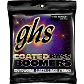 GHS Coated Bass Boomers CB-ML3045 Nickel Plated Steel Bass Guitar Strings 45-100 Long Scale