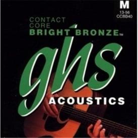 GHS Contact Core Bright Bronze CCBB30 80/20 Copper Zinc Acoustic Guitar Strings 12-54