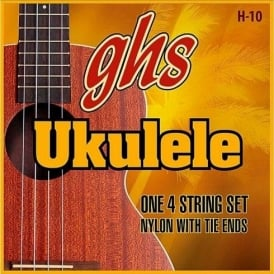 GHS Hawaiian Ukulele H-10 Black Nylon Ukulele Strings 25-32-36-28