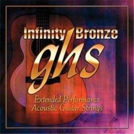 GHS Infinity Bronze IB40M Coated 80/20 Copper Zinc Acoustic Guitar Strings 13-56