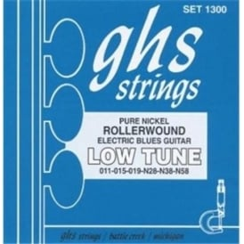 GHS Nickel Rockers 1300 Rollerwound Pure Nickel Electric Guitar Strings 11-58 Low Tune