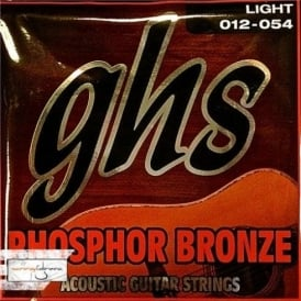 GHS Phosphor Bronze S325 Copper-Tin-Phosphor Alloy Acoustic Guitar Strings 12-54