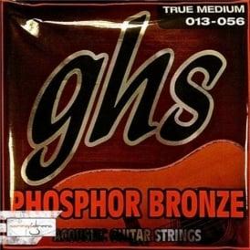 GHS Phosphor Bronze TM335 Copper-Tin-Phosphor Alloy Acoustic Guitar Strings 13-56