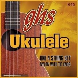 GHS Standard Ukulele 10 Clear Nylon Ukulele Strings 10-22