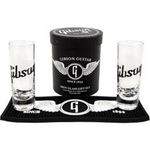 Gibson Guitars Lifestyle Shot Glass Gift Set - 2oz Glass Set with Gibson Logo