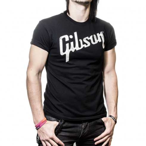 Gibson Guitars Official Logo Black T-Shirt Small