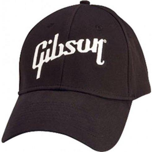 Gibson Official Black Logo Flex Cap