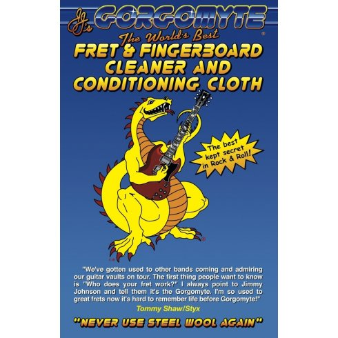 Gorgomyte Guitar Fret & Fingerboard Cleaner with Conditioning Cloth