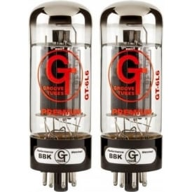 Groove Tubes GT-6L6-R Medium Power Amplifier Tube, Matched Pair (2)