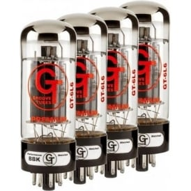 Groove Tubes GT-6L6-S Medium-Output, Enhanced, Guitar Amplifier Power Valves, Matched Quartet, MEDIUM Rating