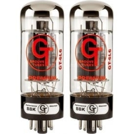 Groove Tubes GT-6L6-S Medium Power Amplifier Tube, Matched Pair (2)