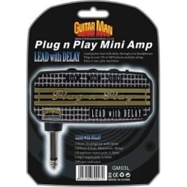 Guitar Man Plug 'n' Play English Lead with Delay Headphone Amplifier