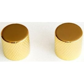 Guitar Tech Gold Push On Guitar Volume Knobs 2-Pack