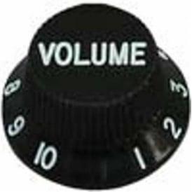 Guitar Tech GT504 S-Type Control Knob 3-Pack (Black) 1V 2T