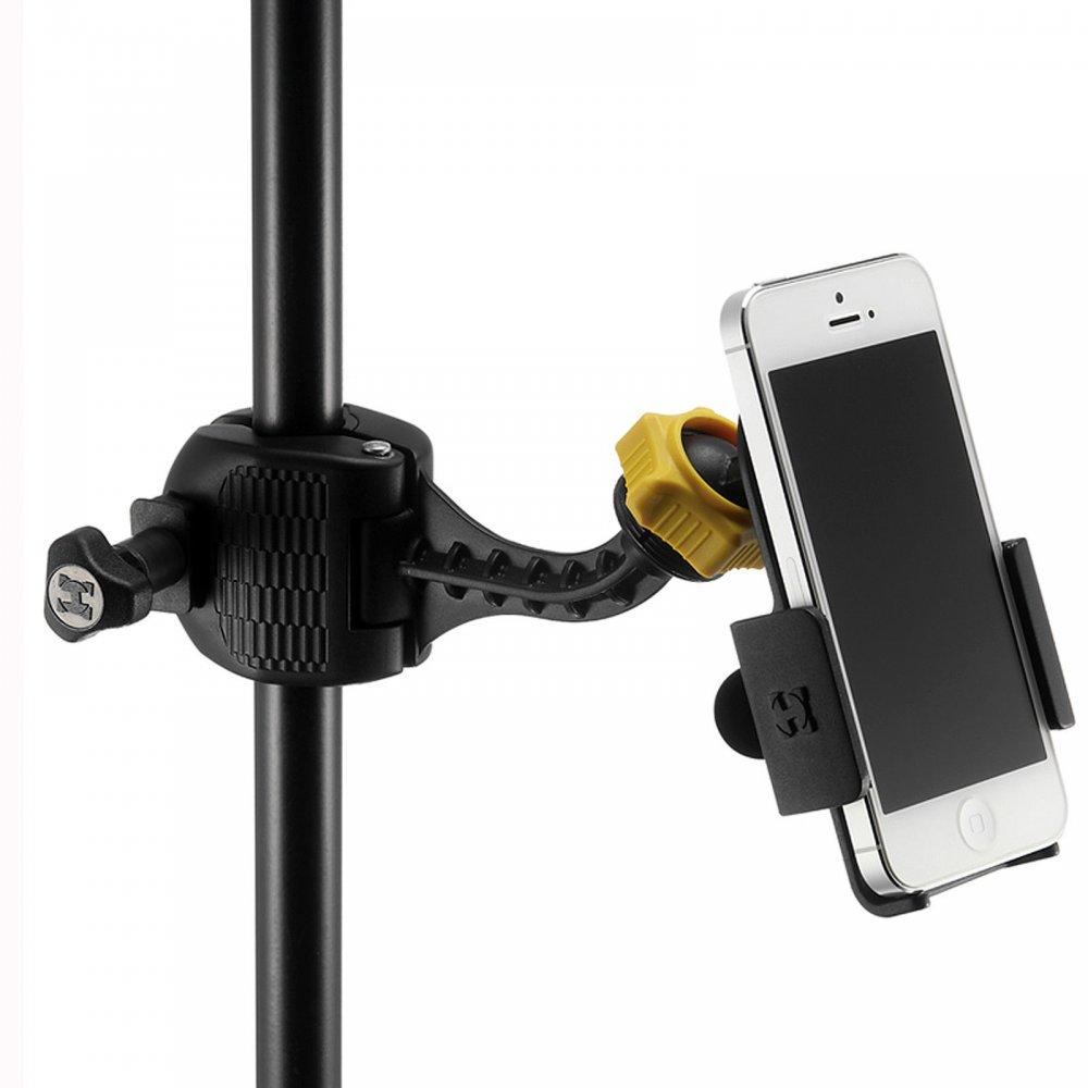 Iphone Holder For Mic Stand : hercules dg200b smart phone microphone stand grab holder for on stage ~ Hamham.info Haus und Dekorationen