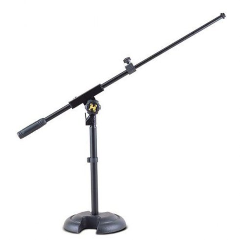Hercules MS120B Low Profile H-Shaped Base Mic Stand with Shorter Telescopic Boom