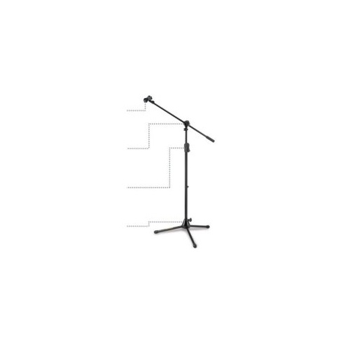 Hercules MS532B Microphone Stand with Boom Arm and EZ Mic Clip
