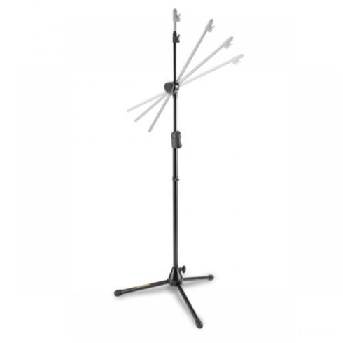 Hercules MS533BD Microphone Stand with Hideaway Boom Arm