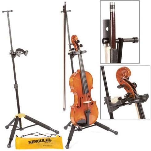 Hercules TravLite DS571BB Adjustable Violin/Viola Stand