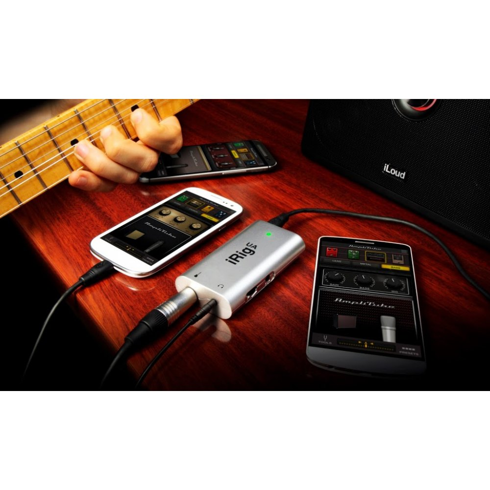 ik multimedia irig hd ua guitar interface for android devices. Black Bedroom Furniture Sets. Home Design Ideas