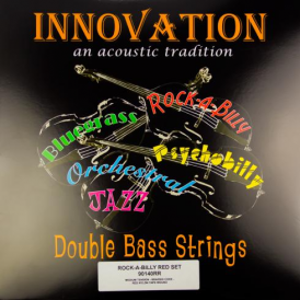 Innovation 90140RR Rockabilly Red Medium Tension Double Bass Strings