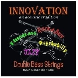 Innovation 140RB Rockabilly Double Bass Medium Tension Black Nylon Tape Wound Strings